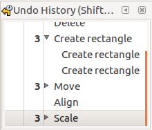 Undo history, Inkscape 0.91